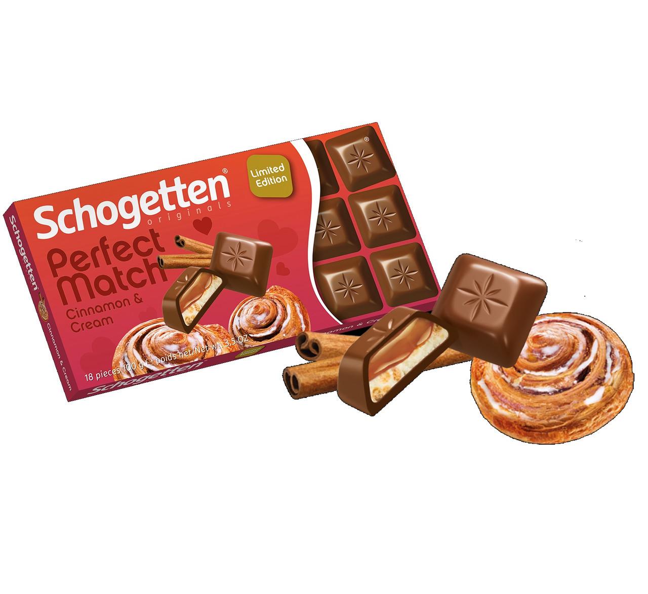 Шоколад молочный Schogetten Perfect Match (Шогеттен) Cinnamon Creme крем с корицей 100 г Германия