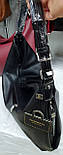Жіночі сумки з штучної шкіри на плече 42*37 см (чорна та бордо), фото 2