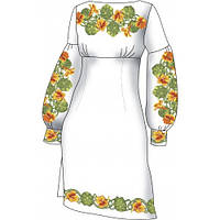 F2502 Настурции. Диана Плюс. Схема + выкройка для вышивания женской сорочки