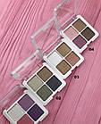 Тени-глитттеры  для век LA ROSA Professional Makeup 3D перламутровые 4 цветa 104-LE № 1 Розово-сиреневые, фото 8