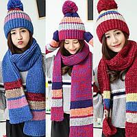 Шапка, шарф, перчатки набор 3в1  70259, фото 1