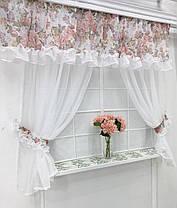 """Кухонные шторы """"Пенелопа"""" Розы, фото 2"""