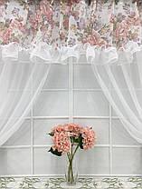 """Кухонные шторы """"Пенелопа"""" Розы, фото 3"""