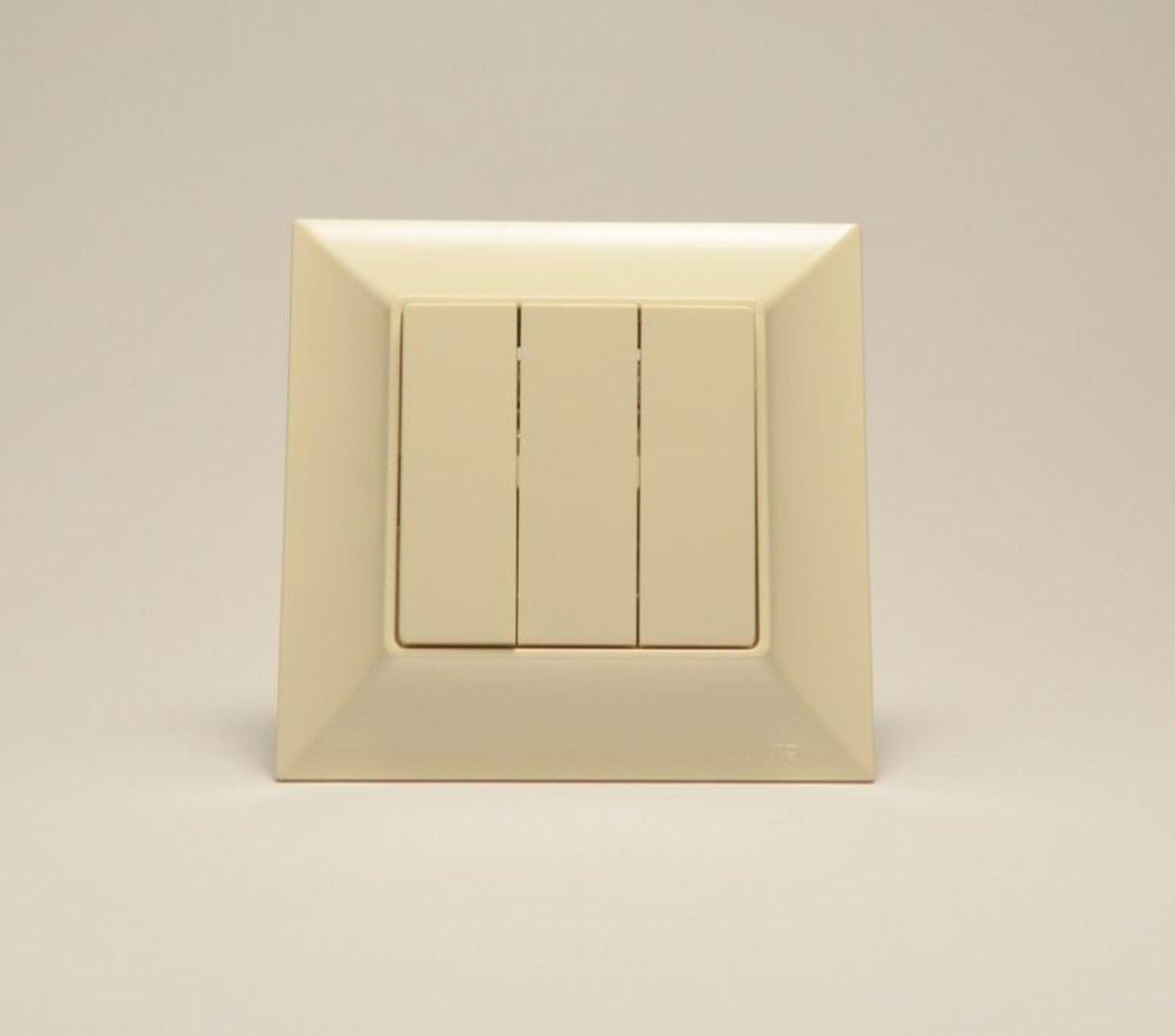 Neoline выключатель 3-й  кремовый
