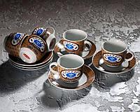 Набор чашек 180 мл для кофе с блюдцами (6чашек, 6 блюдец) в ассортименте.