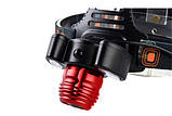 Фонарь налобный аккумуляторный 2в1 YT-1500, фото 6