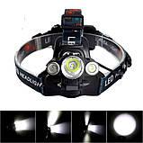 Налобный-велосипедный фонарь Police BL-1825 T6, фото 3