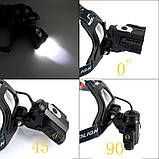 Налобный-велосипедный фонарь Police BL-1825 T6, фото 5