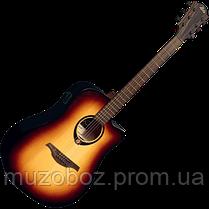 Электро-акустическая гитара Lag Tramontane T70DCE- BRB, фото 3