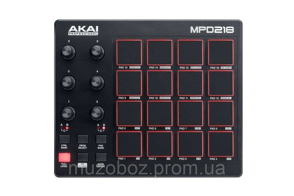 Контроллер Akai MPD218