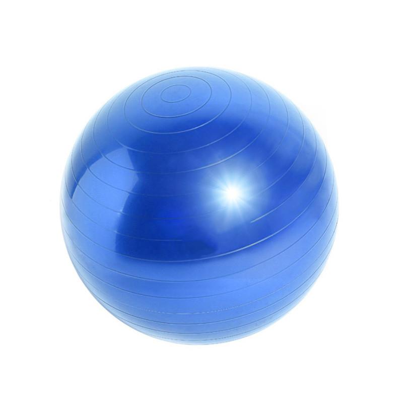 Фитбол для фитнеса йоги Dobetters Profi Blue 75 cm грудничков мяч гладкий гимнастический + насос