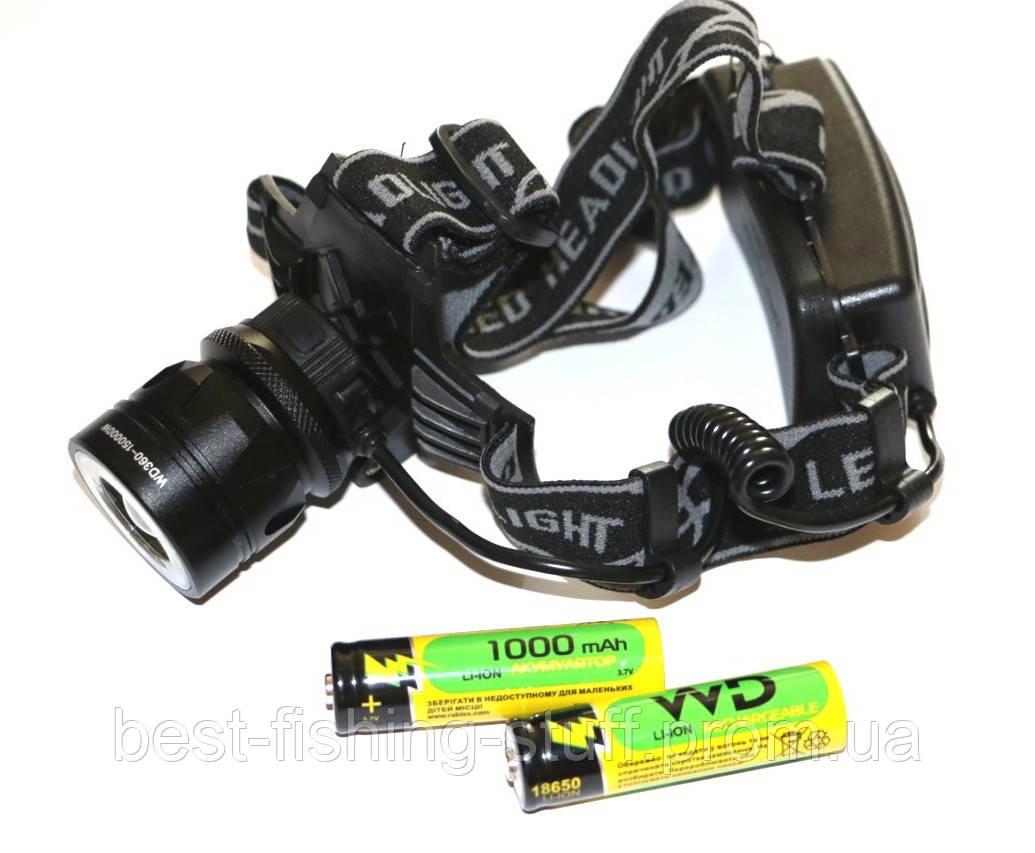 Налобный фонарик Police С861-T6 + COB