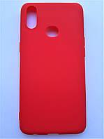 Чехол силиконовый SMTT для Samsung A10s красный