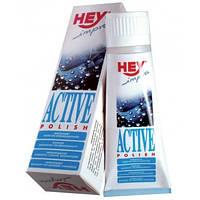 Догляд і просочення для шкіри і текстилю Hey-Sport Active Shoe Polish чорна 75мл