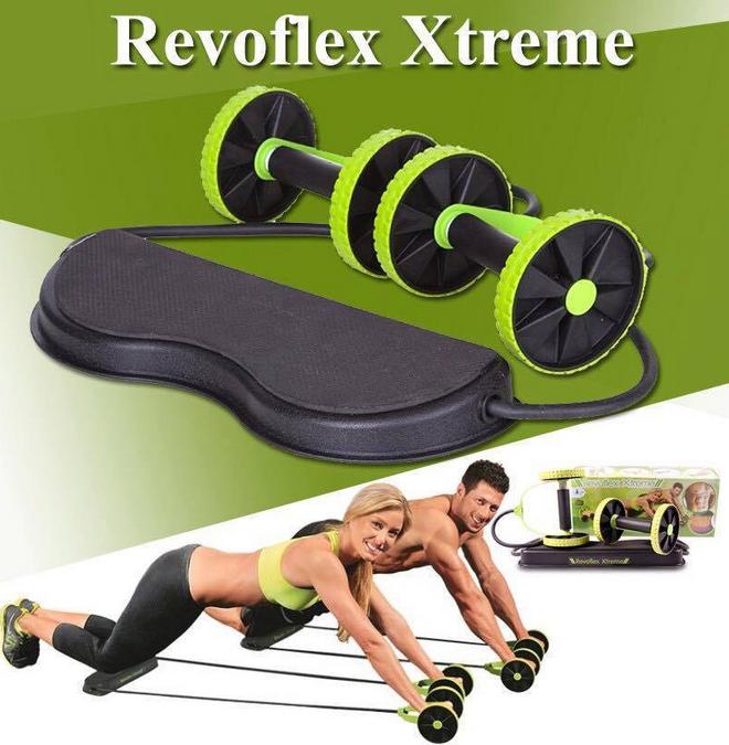 Тренажер Revoflex Xtreme для всего тела! 40 упражнений! Роликовый тренажер