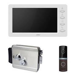 Комплект видеодомофона ARNY AVD-709 1MPX с видеопанелью AVP-NG230 1MPX с электромеханическим замком ATIS