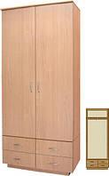 Шкаф в прихожую закрытый (двухдверный с 4-мя ящиками) серии Мишель