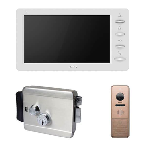 Комплект видеодомофона ARNY AVD-709 1MPX с видеопанелью AVP-NG430 1MPX с  электромеханическим замком ATIS