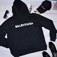 Женская кофта с капюшоном свитшот худи в стиле Balenciaga Баленсиага