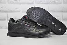 Чоловічі чорні шкіряні кросівки в стилі Reebok Classic black