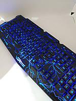 Клавиатура с подсветкой M-200 для компьютера. Клавиатура для ПК. Игровая клавиатура. Клавиатура проводная usb., фото 2