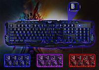 Клавиатура с подсветкой M-200 для компьютера. Клавиатура для ПК. Игровая клавиатура. Клавиатура проводная usb., фото 3