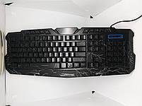 Клавиатура с подсветкой M-200 для компьютера. Клавиатура для ПК. Игровая клавиатура. Клавиатура проводная usb., фото 4