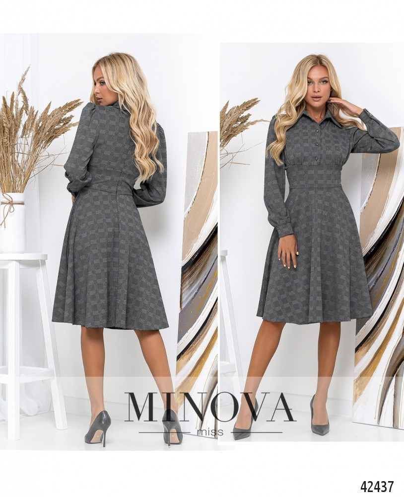 Платье №156-серый