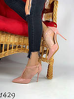 Туфли лодочки на шпильке пудра 37,38 размер