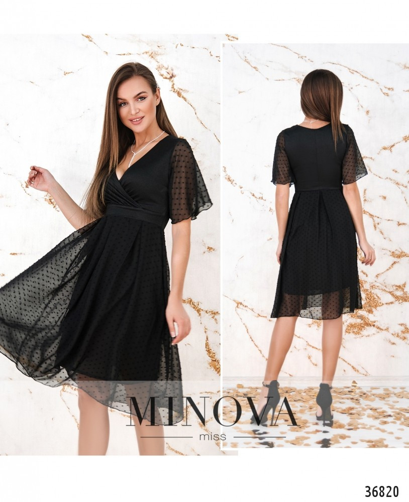 Платье №506Н-черный