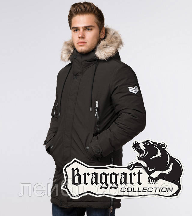 Braggart Arctic 20758 | Парка зимняя мужская коричневая