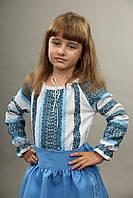 Вышитая сорочка для девочки,машинная вышивка