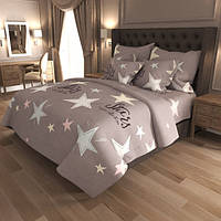 Полуторный Комплект постельного белья IMAN из Бязи, Хлопок GOLD LUX 1 наволочка Постільна білизна