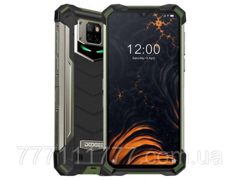 Смартфон водонепроницаемый с функцией NFC и большим емким аккумулятором Doogee S88 Pro green 6/128 гб