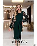 Платье №17690-темно-зеленый, фото 3