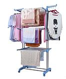 Сушилка напольная для белья, вещей, одежды складная многоярусная (750-1260)*640*1700 мм., фото 2