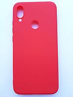 Чехол силиконовый SMTT для Xiaomi Redmi Note 7 красный, фото 1