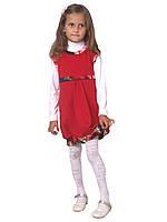 """М -1020 Сарафан детский для девочки трикотажный красный. Размеры 116, 128 тм """"Попелюшка"""", фото 1"""