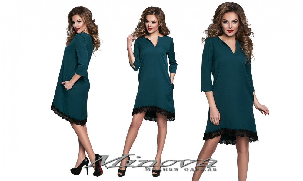 Платье №8550-зеленый