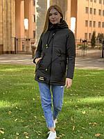 Стильная водонепроницаемая женская парка-куртка 2020-2021