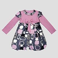 Платье трикотажное для девочки 4-6 лет (лиловое), фото 1