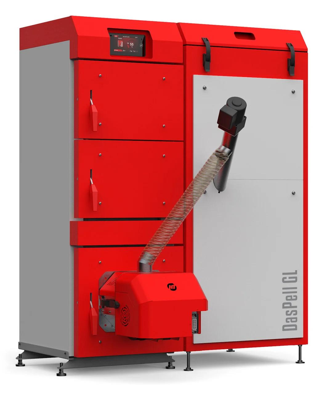 Пеллетный котел Heiztechnik HT DasPell GL 12 кВт с автоподачей топлива и погодозависимой автоматикой