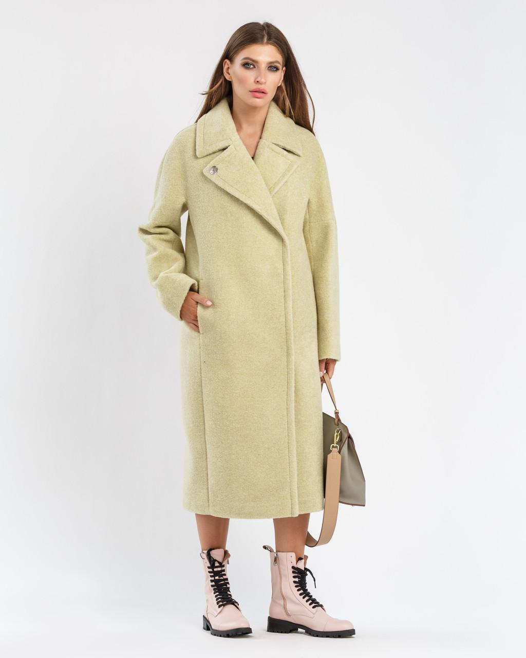 Модне молодіжне пальто з ЭКООВЧИНЫ з відкладним коміром з 42 по 50 розмір