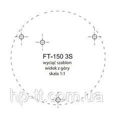 Фонарь предупредительно-сигнальный синий Fristom FT-150 3S DF N LED, фото 2