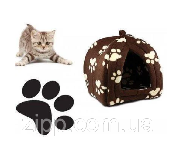 Портативная подвесная мягкая будка для собак и котов Pet Hut, Домик для домашних Пет Хат