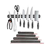 Магнітна планка-тримач для ножів 500 мм чорна, фото 7