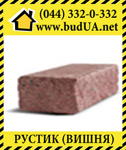 Фасадний камінь «Рустик» Вишня (стандарт) 210х35х60 мм