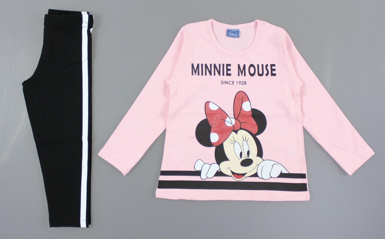 {есть:4/5 лет,8/9 лет,6/7 лет,5/6 лет} Комплект Minnie Mouse для девочек,  Артикул: 6352-розовый [8/9 лет]