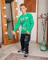 Спортивный костюм для мальчика Hees one step зеленый