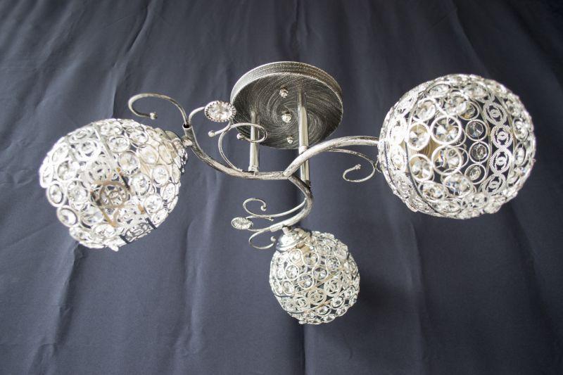 Люстра на 3 лампочки 7351c-3 (CR+BS)